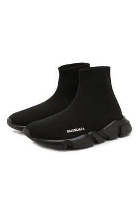 Детские текстильные кроссовки BALENCIAGA черного цвета, арт. 597425/W1701 | Фото 1