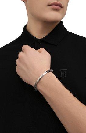 Мужской браслет ALEXANDER MCQUEEN серебряного цвета, арт. 554588/J160Y | Фото 2