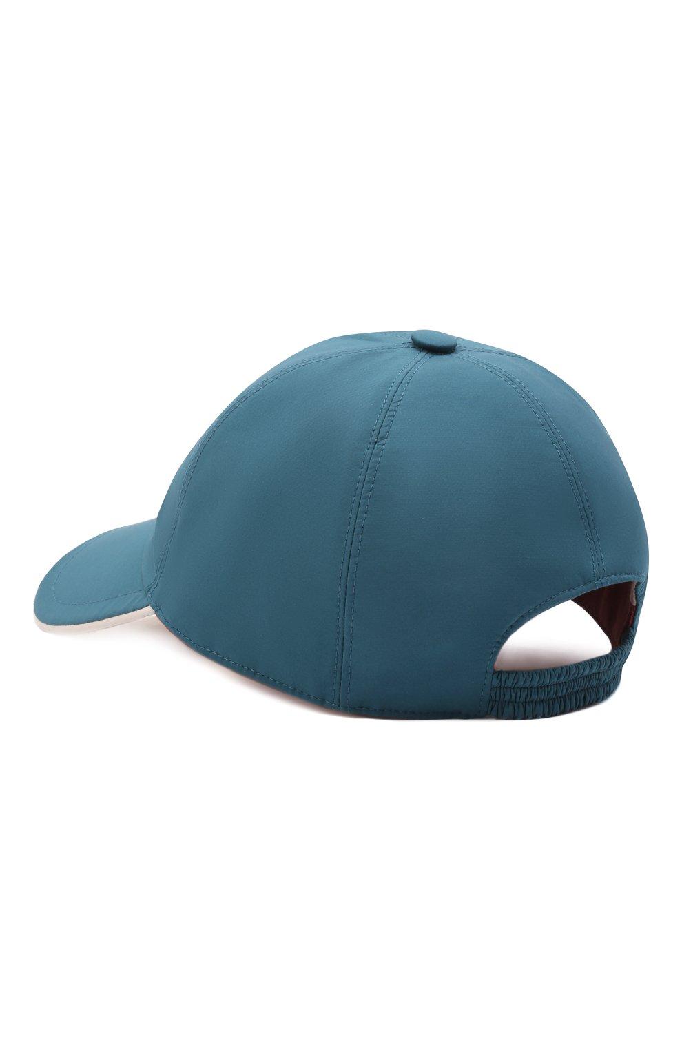 Мужской бейсболка LORO PIANA бирюзового цвета, арт. FAB1977 | Фото 3