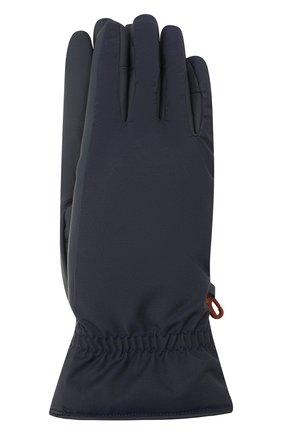 Мужские утепленные перчатки LORO PIANA темно-синего цвета, арт. FAI9728 | Фото 1
