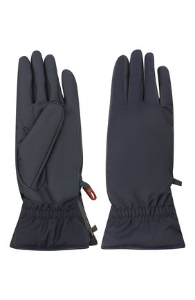 Мужские утепленные перчатки LORO PIANA темно-синего цвета, арт. FAI9728 | Фото 2