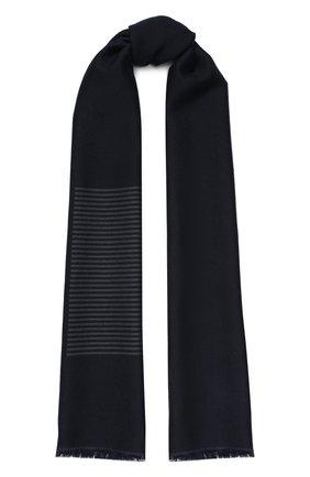 Мужской шарф из смеси шелка и кашемира LORO PIANA темно-синего цвета, арт. FAL0626 | Фото 1