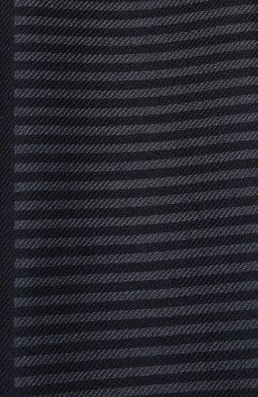 Мужской шарф из смеси шелка и кашемира LORO PIANA темно-синего цвета, арт. FAL0626 | Фото 2