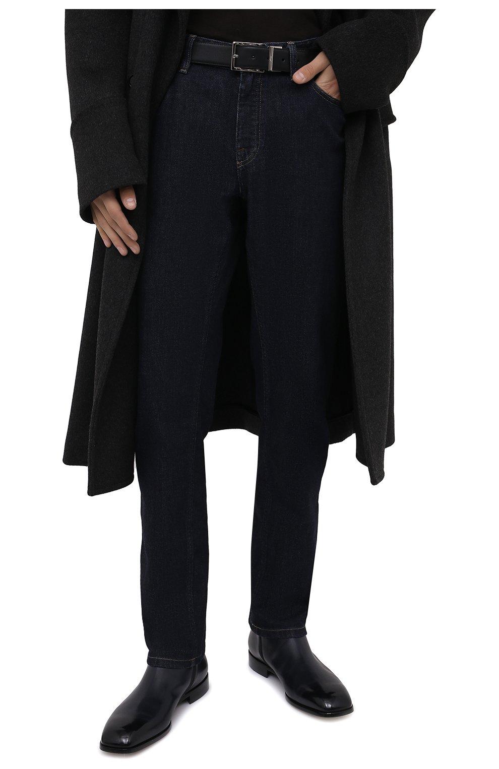 Мужской кожаный ремень BRIONI черного цвета, арт. 0BAQ0L/P9721   Фото 2