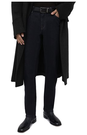 Мужской кожаный ремень BRIONI черного цвета, арт. 0BAQ0L/P9721 | Фото 2
