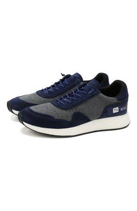 Мужские комбинированные кроссовки Z ZEGNA синего цвета, арт. A4411X-LHTS0 | Фото 1 (Подошва: Массивная; Материал внешний: Текстиль; Материал внутренний: Текстиль)