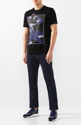 Мужские комбинированные кроссовки Z ZEGNA синего цвета, арт. A4411X-LHTS0 | Фото 2 (Подошва: Массивная; Материал внешний: Текстиль; Материал внутренний: Текстиль)
