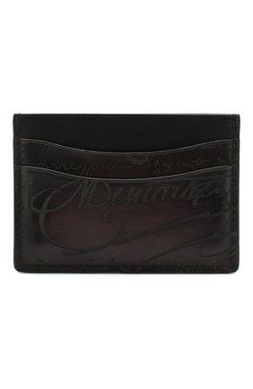 Мужской кожаный футляр для кредитных карт BERLUTI бордового цвета, арт. N039361 | Фото 1