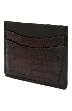 Мужской кожаный футляр для кредитных карт BERLUTI бордового цвета, арт. N039361 | Фото 2