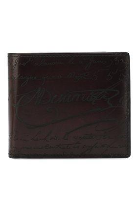 Мужской кожаное портмоне BERLUTI бордового цвета, арт. N124285 | Фото 1