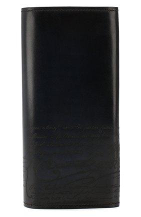 Мужской кожаное портмоне BERLUTI синего цвета, арт. N152809 | Фото 1