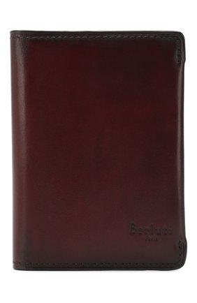 Мужской кожаный футляр для кредитных карт BERLUTI бордового цвета, арт. N176394 | Фото 1