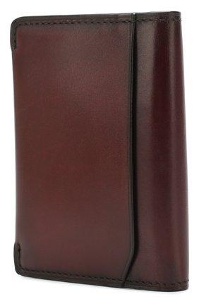 Мужской кожаный футляр для кредитных карт BERLUTI бордового цвета, арт. N176394 | Фото 2