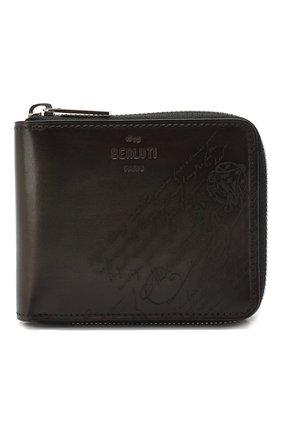 Мужской кожаное портмоне BERLUTI темно-коричневого цвета, арт. N196465 | Фото 1