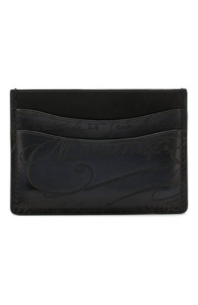 Мужской кожаный футляр для кредитных карт BERLUTI синего цвета, арт. N197180 | Фото 1