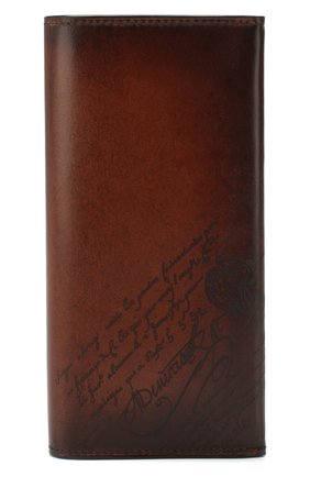 Мужской кожаное портмоне BERLUTI коричневого цвета, арт. N199195 | Фото 1