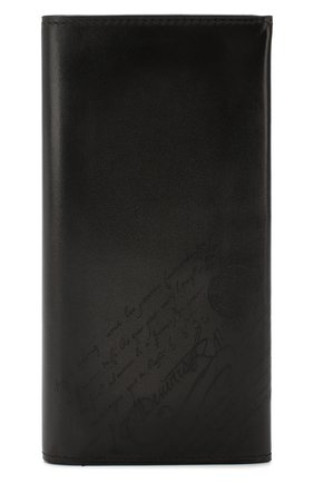 Мужской кожаное портмоне BERLUTI темно-серого цвета, арт. N199196 | Фото 1