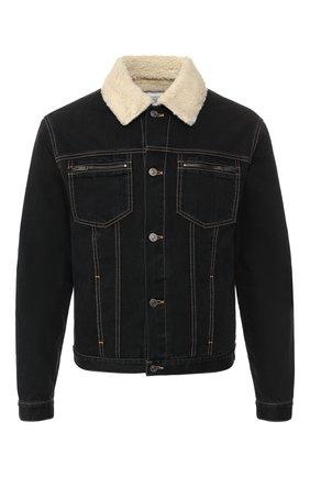Мужская джинсовая куртка GIVENCHY черного цвета, арт. BM00FV50CS | Фото 1