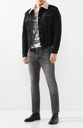 Мужская джинсовая куртка GIVENCHY черного цвета, арт. BM00FV50CS | Фото 2