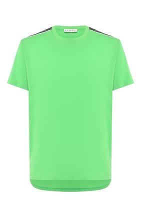 Мужская хлопковая футболка GIVENCHY зеленого цвета, арт. BM70UJ3002   Фото 1