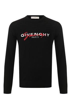 Мужской шерстяной джемпер GIVENCHY черного цвета, арт. BM90B1404X | Фото 1