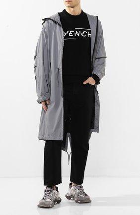 Мужской хлопковый свитер GIVENCHY черно-белого цвета, арт. BM90B4401M | Фото 2