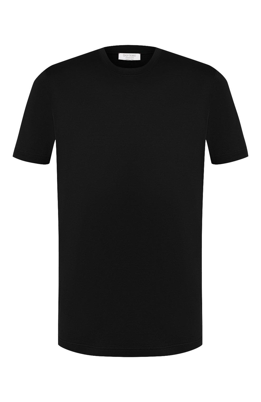 Мужская хлопковая футболка GRAN SASSO черного цвета, арт. 60133/74001 | Фото 1
