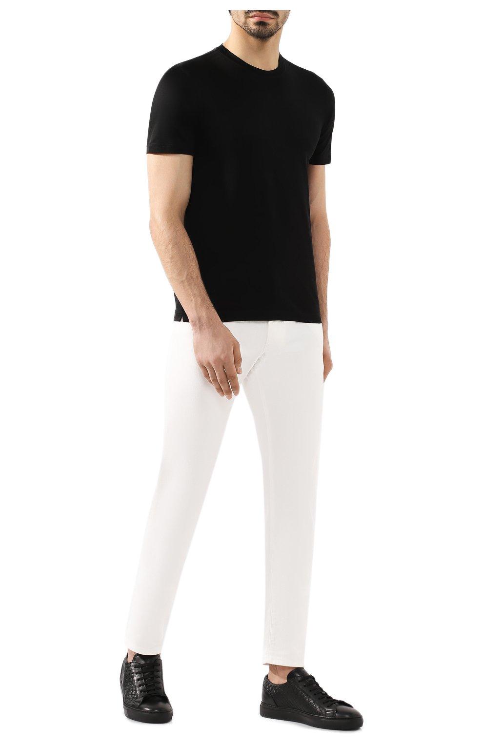Мужская хлопковая футболка GRAN SASSO черного цвета, арт. 60133/74001 | Фото 2
