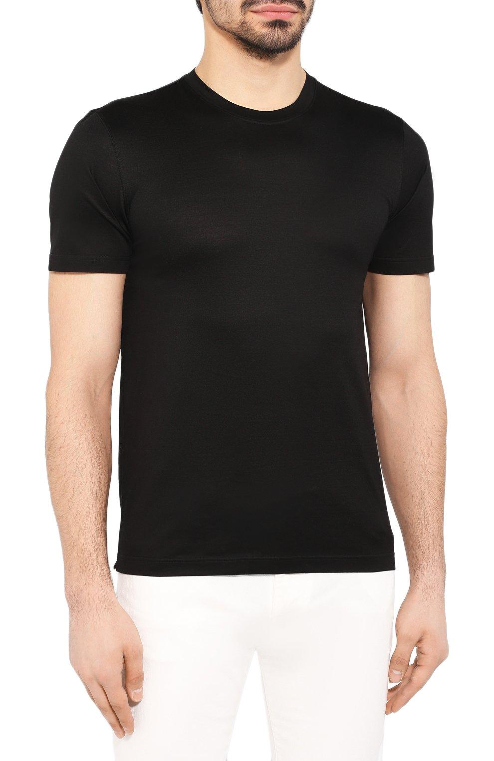 Мужская хлопковая футболка GRAN SASSO черного цвета, арт. 60133/74001 | Фото 3