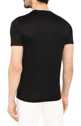 Мужская хлопковая футболка GRAN SASSO черного цвета, арт. 60133/74001 | Фото 4