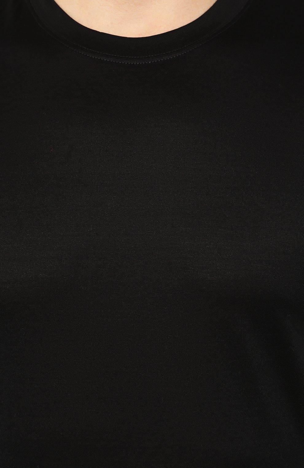Мужская хлопковая футболка GRAN SASSO черного цвета, арт. 60133/74001 | Фото 5