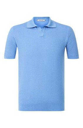 Мужское хлопковое поло FIORONI голубого цвета, арт. MK20263C1 | Фото 1