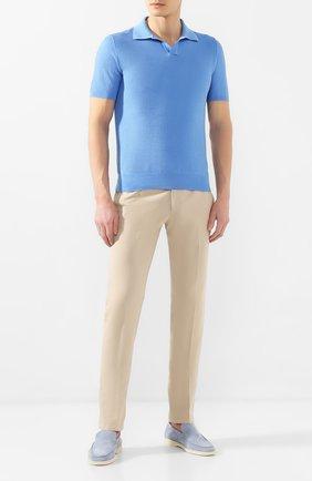 Мужское хлопковое поло FIORONI голубого цвета, арт. MK20263C1 | Фото 2