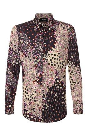 Мужская хлопковая рубашка DSQUARED2 разноцветного цвета, арт. S74DM0403/S52656 | Фото 1