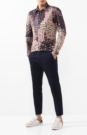 Мужская хлопковая рубашка DSQUARED2 разноцветного цвета, арт. S74DM0403/S52656 | Фото 2