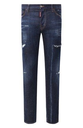 Мужские джинсы DSQUARED2 темно-синего цвета, арт. S74LB0712/S30342 | Фото 1