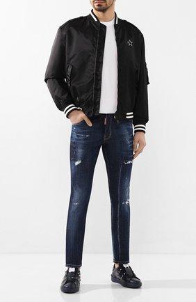 Мужские джинсы DSQUARED2 темно-синего цвета, арт. S74LB0712/S30342 | Фото 2