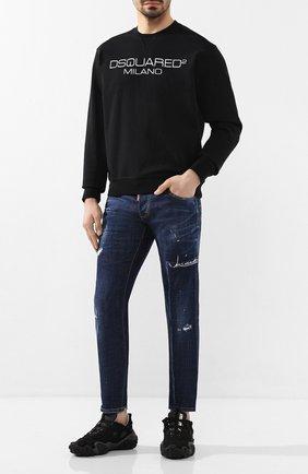 Мужские джинсы DSQUARED2 темно-синего цвета, арт. S74LB0713/S30342 | Фото 2