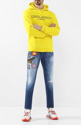 Мужские джинсы DSQUARED2 синего цвета, арт. S74LB0720/S30663   Фото 2