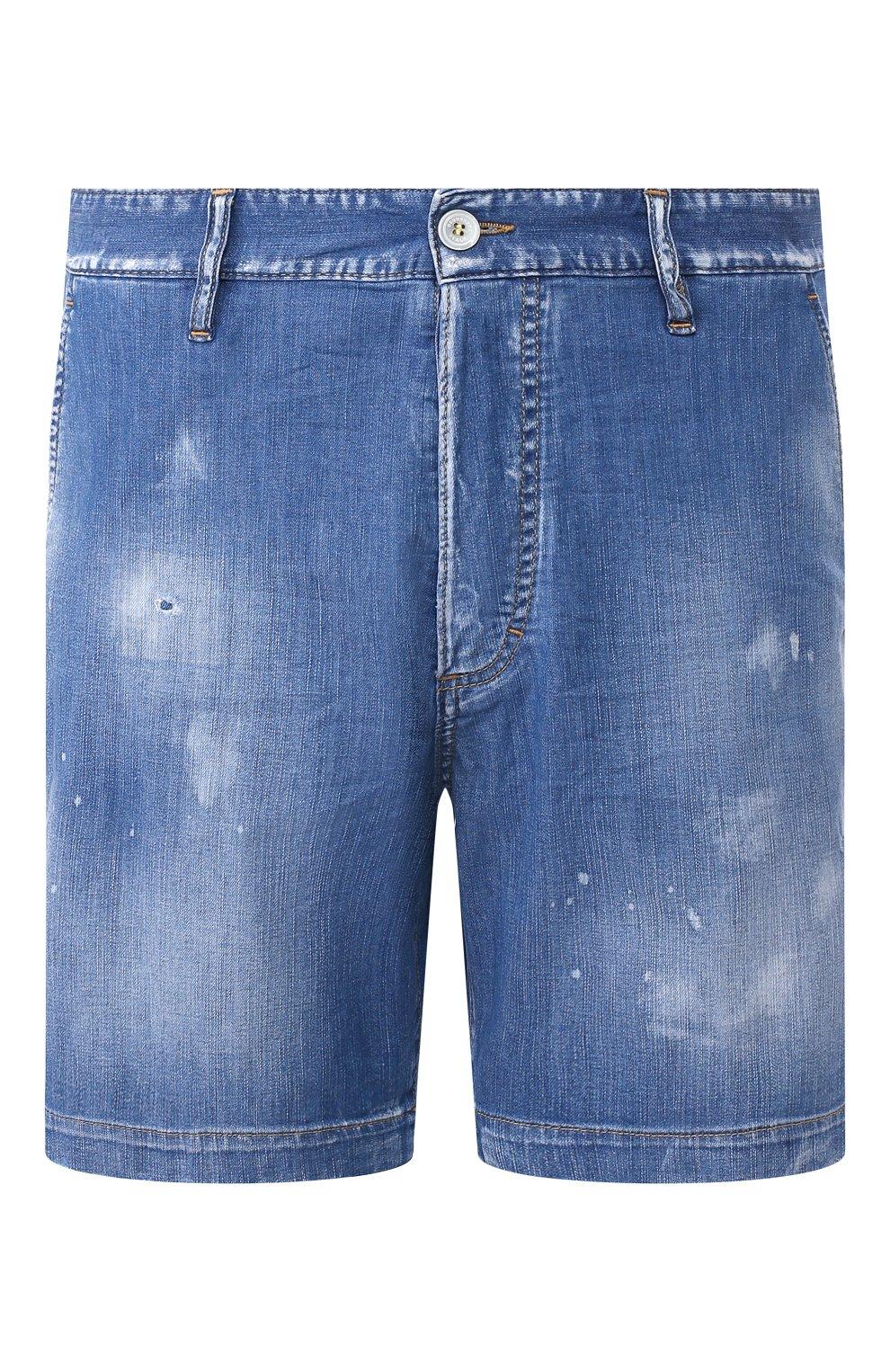 Мужские джинсовые шорты DSQUARED2 синего цвета, арт. S74MU0592/S30341 | Фото 1