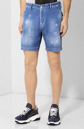 Мужские джинсовые шорты DSQUARED2 синего цвета, арт. S74MU0592/S30341 | Фото 3