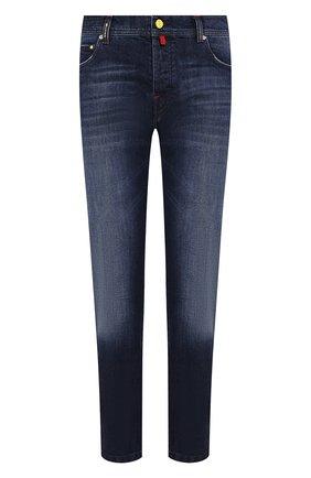 Мужские джинсы KITON синего цвета, арт. UPNJS/J07S10 | Фото 1