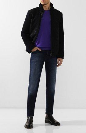 Мужские джинсы KITON синего цвета, арт. UPNJS/J07S10 | Фото 2