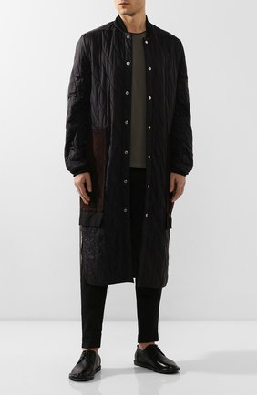 Мужской кожаные дерби MARSELL черного цвета, арт. MMG002/PELLE V0L0NATA | Фото 2