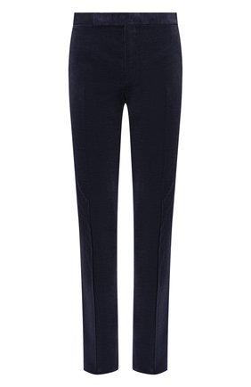 Мужские хлопковые брюки RALPH LAUREN синего цвета, арт. 798783842 | Фото 1 (Материал внешний: Хлопок; Материал подклада: Вискоза; Случай: Повседневный)