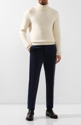 Мужские хлопковые брюки RALPH LAUREN синего цвета, арт. 798783842 | Фото 2 (Материал внешний: Хлопок; Материал подклада: Вискоза; Случай: Повседневный)