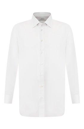 Мужская сорочка из смеси хлопка и льна BRIONI белого цвета, арт. RCLT0L/P90C5 | Фото 1