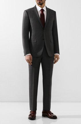 Мужская сорочка из смеси хлопка и льна BRIONI белого цвета, арт. RCLT0L/P90C5 | Фото 2