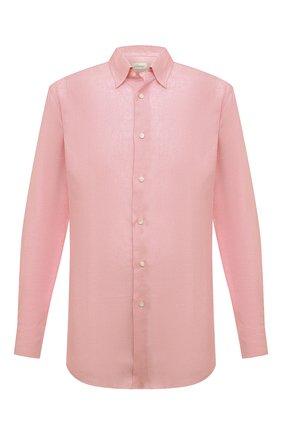 Мужская льняная рубашка BRIONI светло-розового цвета, арт. SCCA0L/P9111 | Фото 1
