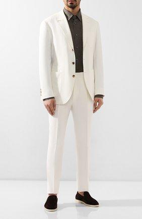 Мужская льняная рубашка BRIONI хаки цвета, арт. SCCA0L/P9111 | Фото 2